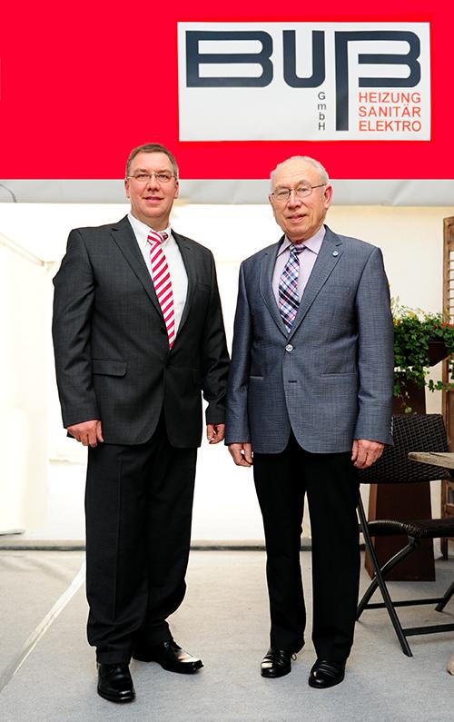 Firmengründer Heinrich Buß und sein Nachfolger Heinz Buß Jr.